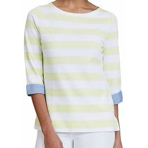 Nautica 100% Cotton Cuffed Chambray Sleeve Stripe